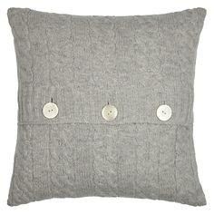 Buy John Lewis Cable Knit Cushion, Soft Grey online at JohnLewis.com - John Lewis