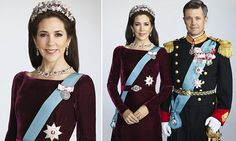 Royal tradition: Crown Princess Mary wears family jewels in portrait