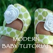 home-made booties as cute gifts