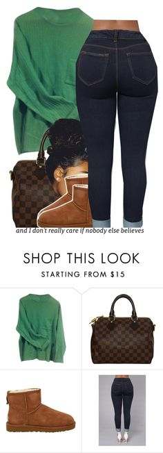 """""""comfy."""" by trinityannetrinity ❤ liked on Polyvore featuring Paul Smith, Louis Vuitton and UGG Australia"""