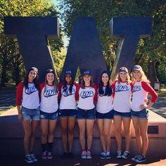 Alpha Delta Pi at University of Washington #AlphaDeltaPi #ADPi #BidDay #raglan #sorority #UW