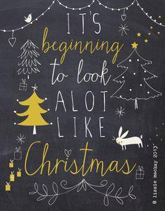 it's beginning to look a lot like Christmas - chalkboard art