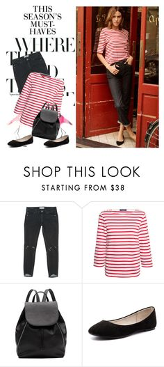 """""""Alexa Chung"""" by gabriela2105 ❤ liked on Polyvore featuring H&M, AG Adriano Goldschmied, Free People, Saint James, Witchery and Verali"""