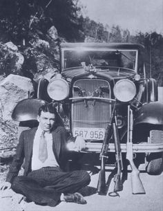 Just 16 years old, W. D. Jones committed two murders in his first two weeks as Clyde Barrow's protégé.  File:WDJonesAndGuns1933.jpg
