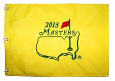 2013 Masters Embroidered Golf Pin Flag Adam Scott Wins!