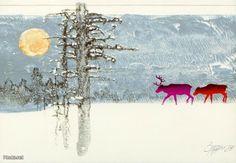 "Osmo ""OMPPU"" Antero Omenamäki Christina Rossetti, Animal Habitats, Moose Art, Fall, Winter, Animals, Autumn, Winter Time, Animales"