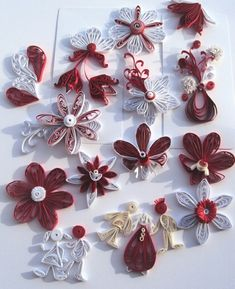 Paper Cutting, Quilling, Snowflakes, Diy Crafts, Brooch, Seasons, Jewelry, Red, Art