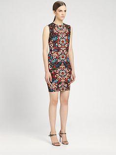 Alexander McQueen - Stained Glass Print Sleeveless Dress - Saks.com (Fall 2013, wishlish)