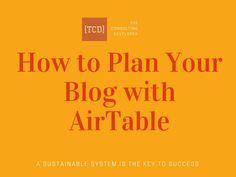 One of the systems that I rely on is my content production system in AirTable. Learn how you can plan your blog with AirTable!