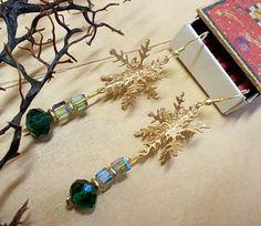 Christmas earrings Christmas Earrings, Christmas Jewelry, Seasons Of The Year, Charmed, Bracelets, Bracelet, Arm Bracelets, Bangle, Bangles