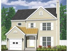 Country House Plan with 1518 Square Feet and 3 Bedrooms from Dream Home Source | House Plan Code DHSW69032