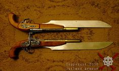 This style is what i'm looking for a gun that works and still can be a blade, just I want it to be my favorite american style weapon mixed with my favorite Japanese weapon