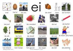 Afkijkplaat EI by alberta Learn Dutch, Dutch Language, Primary Teaching, Kindergarten Lessons, Kids Writing, Creative Teaching, Teaching Materials, Home Schooling, Kids Education