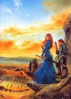 "Luis Royo Art; Cover of ""Destiny"" by Elizabeth Haydon"