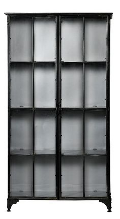 Nordal DOWNTOWN Iron Cabinet, Black H184
