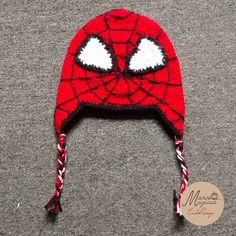Spiderman crochet hat