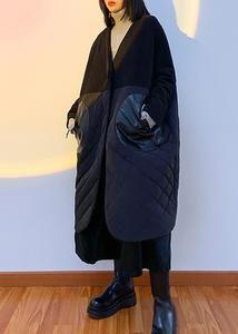 Oversized Puffer Coat, Black Overcoat, Raincoat, V Neck, Winter Coats, Sleeves, Cotton, Jackets, Clothes