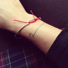 Heart wrist bracelet tattoo