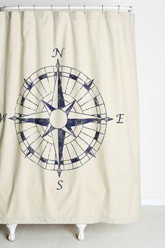 4040 Locust Navigation Shower Curtain - Urban Outfitters