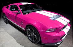 Pink Shelby GT500. OMG!!! Im in LOVE!!!