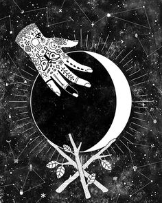 Lunar Phases - Waxing Crescent, by Camille Chew