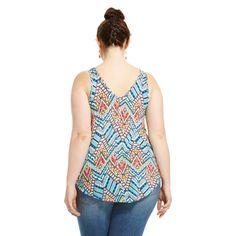 Women's Plus Size V-Neck Neon Tank Top-Ma Cherie