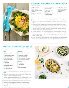 Salmon, mango, avocado salad