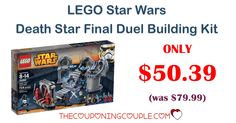 BEST PRICE! SAVE $30! LEGO Star Wars Death Star Final Duel Building Kit is only $50.39 (reg $79.99) GREAT GIFT!  Click the link below to get all of the details ► http://www.thecouponingcouple.com/lego-star-wars-death-star-final-duel-building-kit/ #Coupons #Couponing #CouponCommunity  Visit us at http://www.thecouponingcouple.com for more great posts!