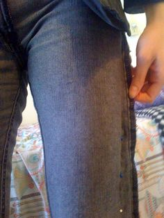 How to tailor your jeans.... Great idea!Did this.  It's so easy and it really works!  If you have boot leg, don't take too much in at the bottom.  Also used a serger to cut and sew at same time. Super quick!