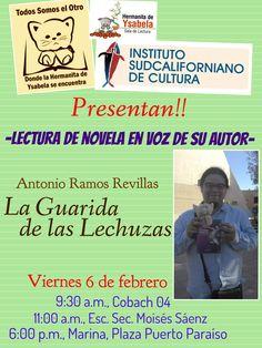 Actividad literaria, presentación de libro y escritor en escuelas y Sala de Lectura de Hermanita de Ysabela