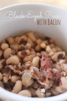 Black Eyed Peas with #Bacon #Recipe