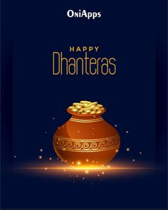 Happy Dhanteras Wishes, Dhanteras Images, Family Wishes, Divine Light, Happy Diwali, Gold Coins, How To Memorize Things, Cards, Adobe Illustrator