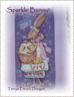 Tiny Love Bunny and Sparkle Bunny by Terrye by PaintingWithFriends, $5.00