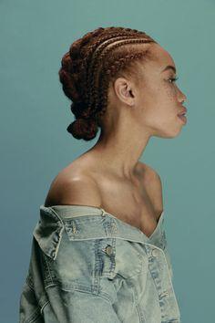 Tresses collées cheveux afro crépus naturels