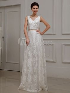 Vestidos de novia civil color marfil