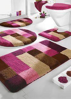 Resultado de imagen para conjunto tapete para banheiro em agulha magica