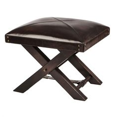 Oxford stool, dark brown
