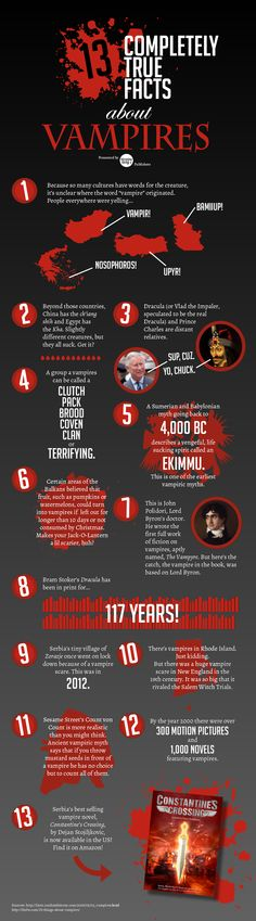 30 best bt infographics images on pinterest info graphics 13 completely true facts about vampires fandeluxe Images