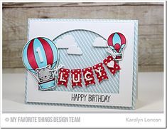 Up in the Air Stamp Set and Die-namics, Stitched Dome STAX Die-namics, Blueprints 31 Die-namics, Blueprints 15 Die-namics, Blueprints 8 Die-namics, Bottlecap Letters Die-namics, Little Numbers Die-namics - Karolyn Loncon  #mftstamps