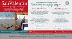 Nuestro #Spa trae para ti los mejores Rituales para disfrutar en compañía de tu pareja o amigos… #SanValentín (Aplica condiciones y restricciones, valido previa disponibilidad)