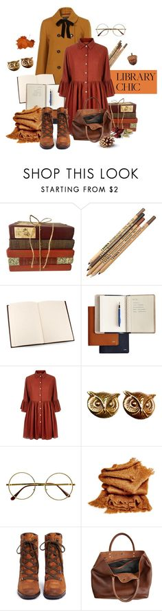 """""""Fall Library Style"""" by lysianna ❤ liked on Polyvore featuring Topshop, Mark & Graham, Mela Loves London, Joseff of Hollywood, Retrò, abcDNA, Sam Edelman, Monserat De Lucca and vintage"""