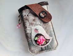Bird of Fall Mobile Phone Pouch-Samsung-HTC from Lily's Handmade - Desire 2 Handmade Gifts, Bags, Charms, Pouches, Cases, Purses by DaWanda.com