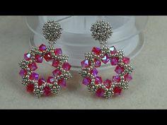 """Perno Orecchini""""EmeraldAB"""" (Mini orecchini) - List of the most beautiful jewelry Seed Bead Earrings, Beaded Earrings, Earrings Handmade, Handmade Jewelry, Seed Beads, Stud Earrings, Jewelry Making Tutorials, Beading Tutorials, Bead Jewellery"""