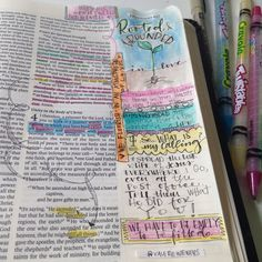 Bible Journaling, creating art in your Bible to reflect what the Scriptures are saying to you. Tips and tools on this blog.