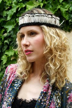 Black & White Feather Crown/Headband  Handmade by Sachi215 on Etsy, $60.00