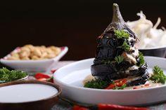 Indonesian Eggplant with Peanut Sauce - Petjel Terong