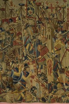 """The Pastrana Tapestries are among the finest surviving Gothic tapestries . . .  Woven in the late 1400s, these monumental tapestries . . . are among the rarest and earliest examples of tapestries created to celebrate what were then contemporary events, instead of allegorical or religious subjects. . . Exquisitely rendered in wool and silk threads by Flemish weavers . . .tapestries teem with vivid and colorful images . . . set against a backdrop of maritime and urban landscapes."""