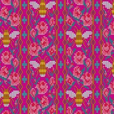 Handiwork by Alison Glass is a neat collection of unique crafting prints. Bead Work is a great fabric with bees and flowers on a hot pink background. Use is as a focal print on a quilt or home decor. Novelty print for a great borders. Pink Fabric, Cotton Fabric, Bee Fabric, Woven Cotton, Quilting Fabric, Hot Pink Background, Andover Fabrics, Thing 1, Block Of The Month