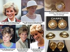 Diana Chanel pearl n gold earrings Princess Diana Jewelry, Princess Diana Family, Princess Of Wales, Princess Charlotte, Royal Princess, British Nobility, Chanel Pearls, Diana Fashion, Royal Engagement
