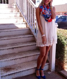 Bright scarves and sundresses